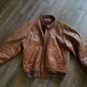 Vintage 90's Context leather bomber